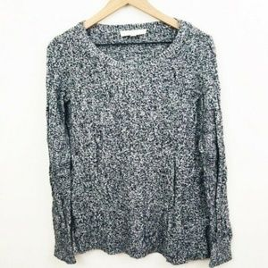 LOFT Gray Cable Knit Sweater Small